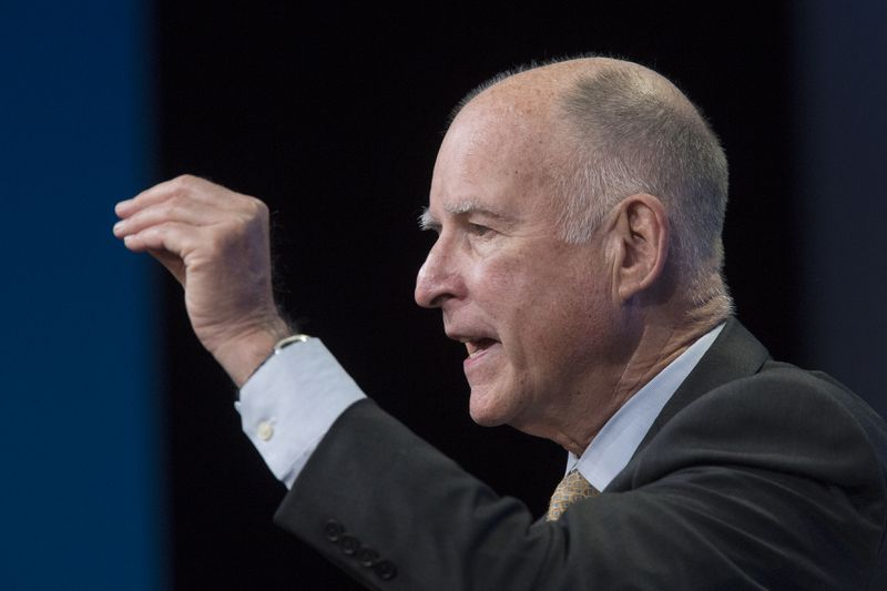 California Governor Jerry Brown Discusses Gov't Response To Climate Change