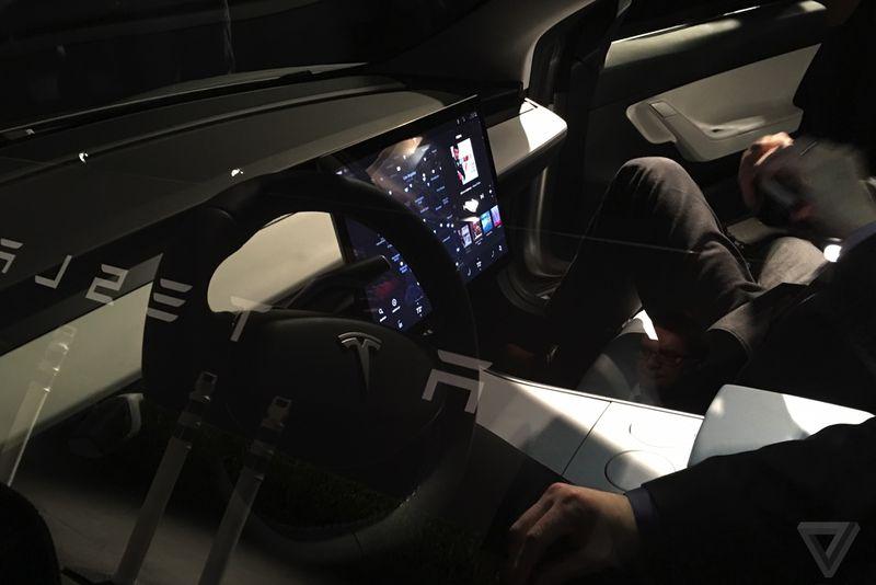 Tesla Model 3 Interior Launch