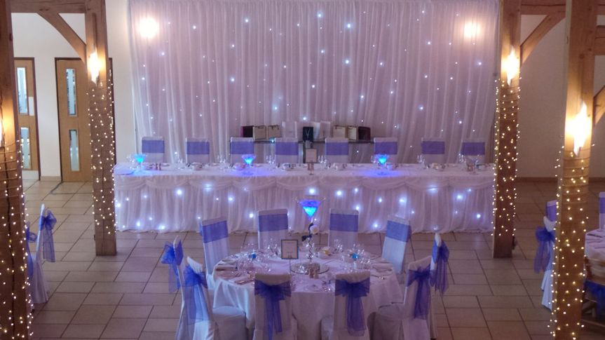 Twinkle Light Backdrop & Skirt From Busy Bee Events
