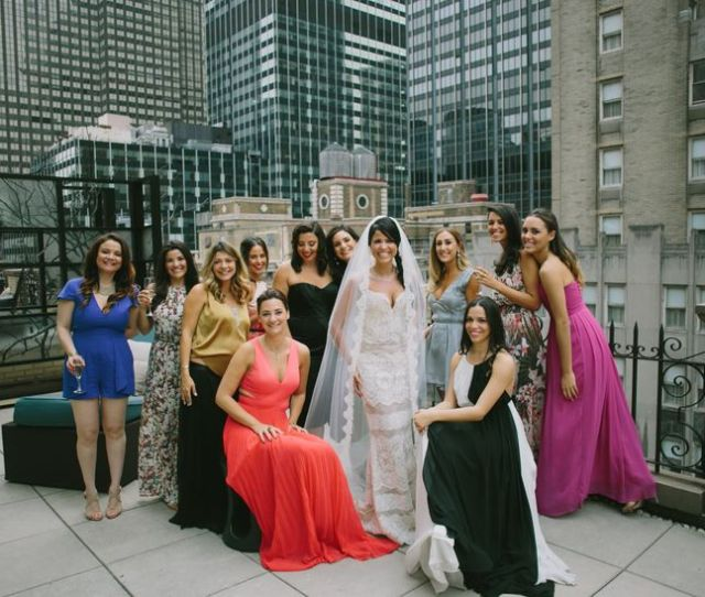 Wear To A Wedding And What You Should Avoid Wearing At All Costs Bride With Guests