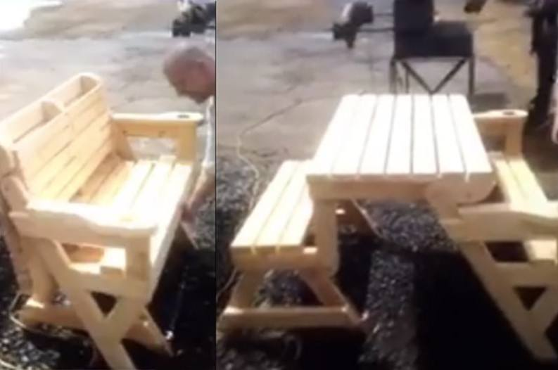 Folding Bench And Picnic Table Combo Is Pure Genius Watch