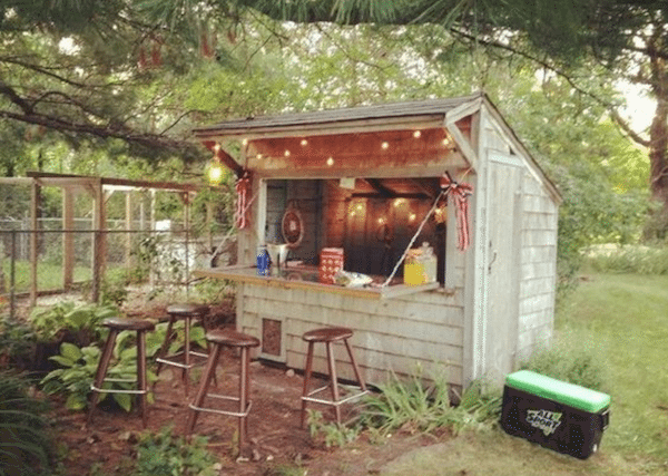 Rustic bar shed
