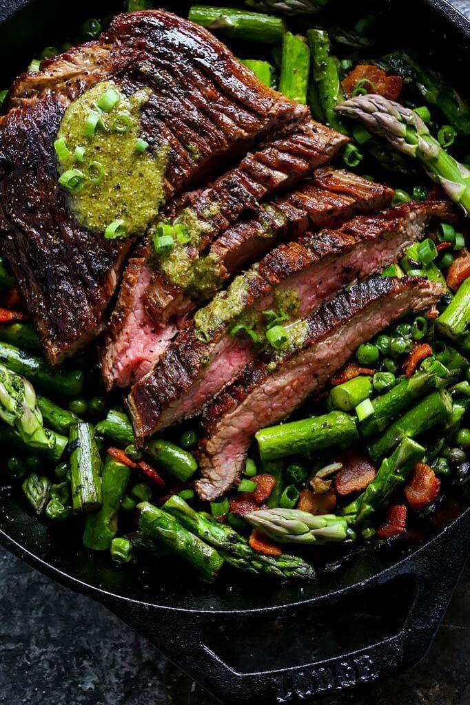 Cast Iron Skillet Rib Eye Steak