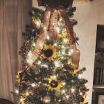 How To Decorate A Sunflower Christmas Tree This Holiday Season