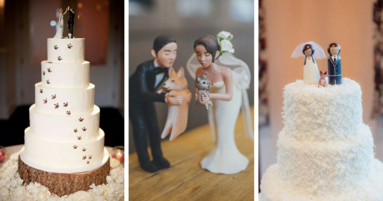 12 Dog Wedding Cake Toppers Since the Pup Is Part of the Family dog wedding toppers