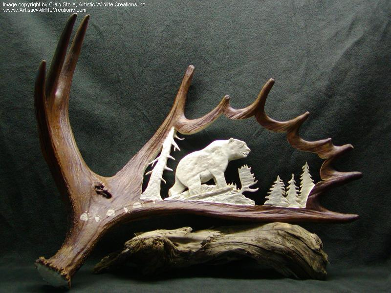 20 Incredible Moose Antler Carvings PICS