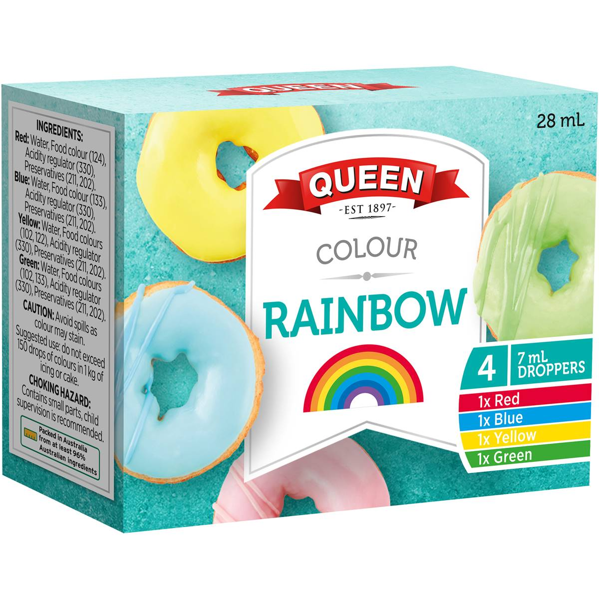 Queen Food Colouring Assorted Food Colours 4pk