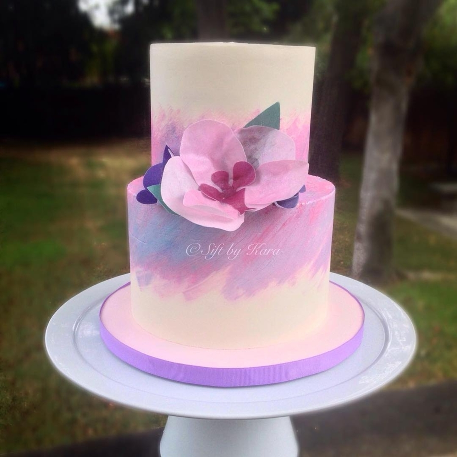 Painted Buttercream Cake Cakecentral Com