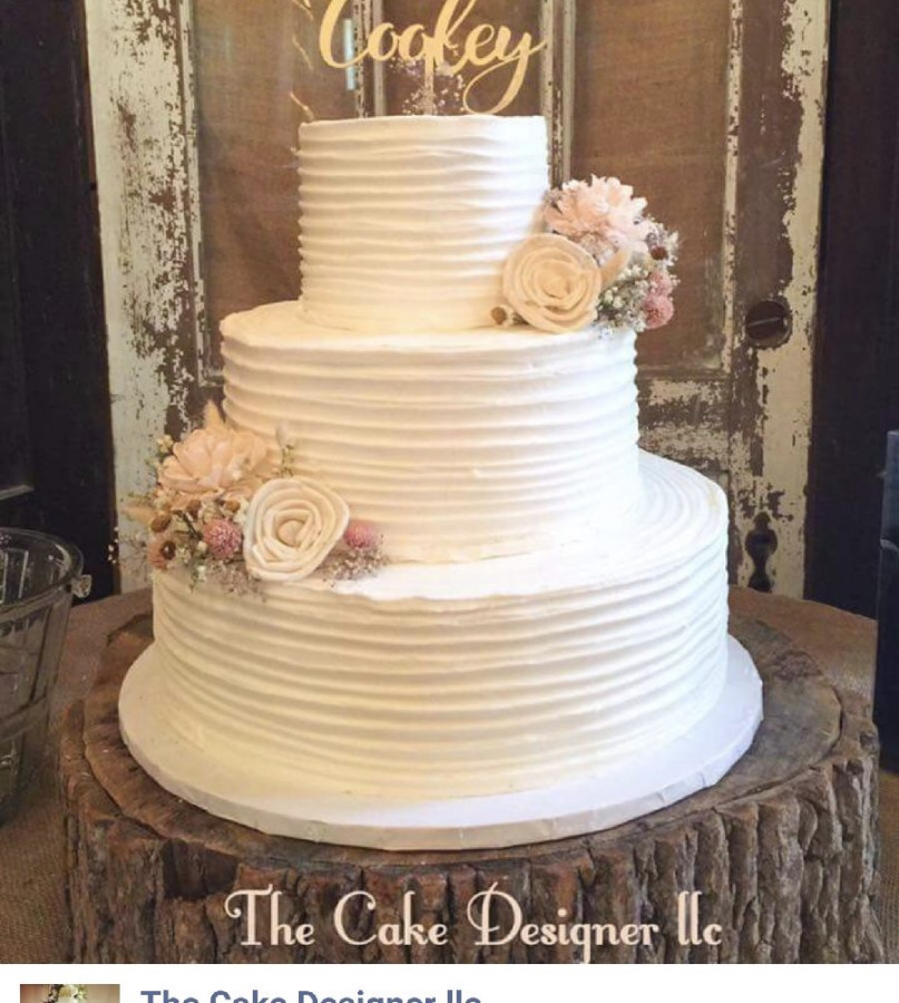 Rustic Buttercream Wedding Cake   CakeCentral com Rustic Buttercream Wedding Cake