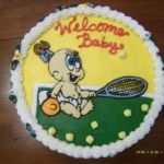 Tennis Baby Shower Cake Cakecentral Com