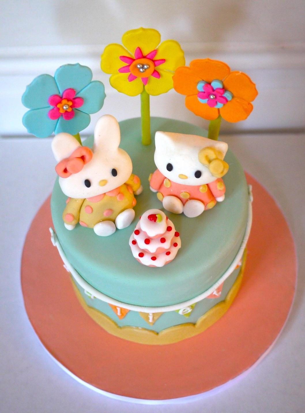 Hello Kitty Amp Miffy Cake