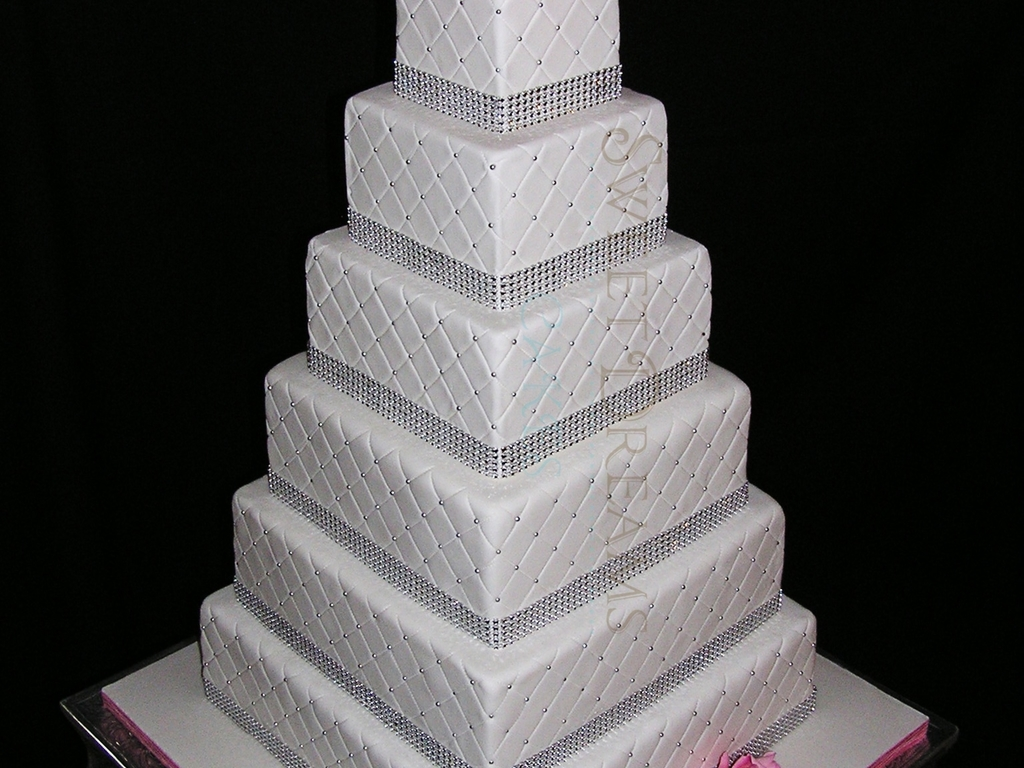 Square Bling Wedding Cake    CakeCentral com