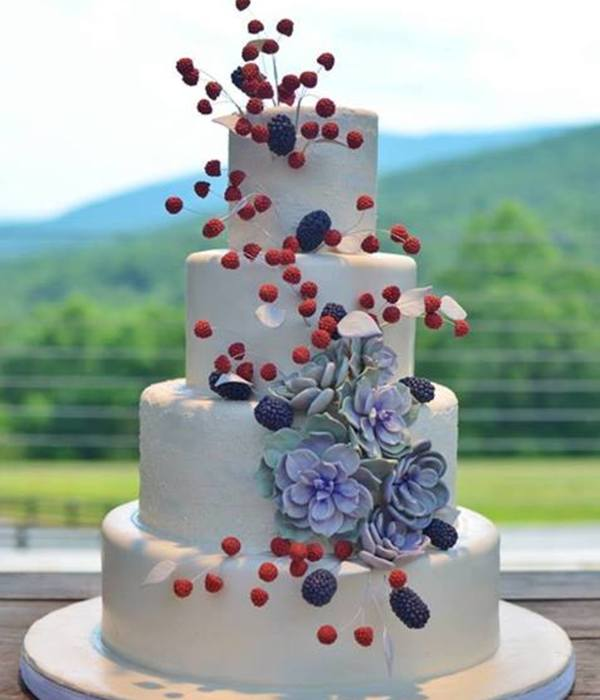 Top Succulent Wedding Cakes   CakeCentral com Raspberry Blackberry Succulent Wedding Cake
