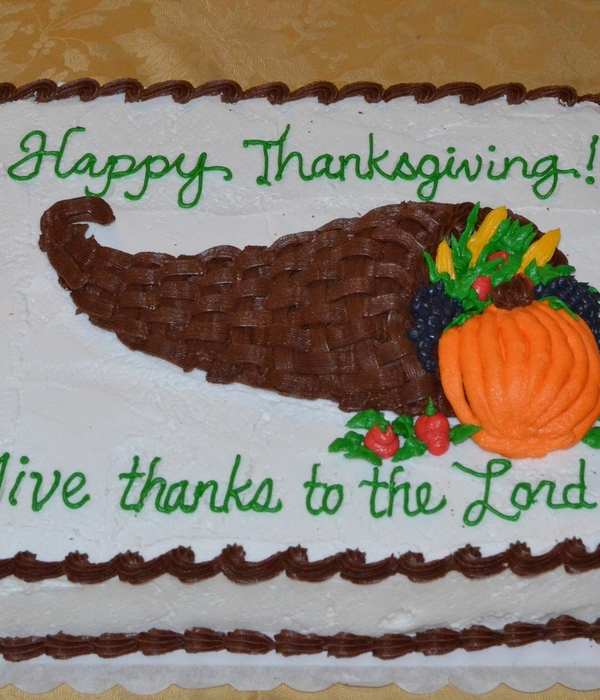 Thanksgiving Cake Decorating Photos Happy Thanksgiving  Give Thanks To The Lord