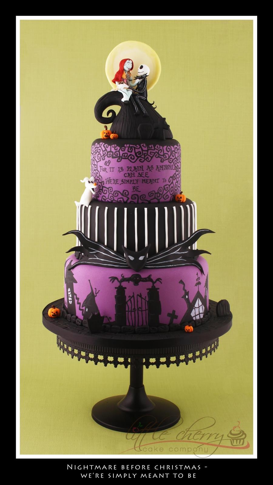 Nightmare Before Christmas Wedding Cake Cakecentral Com