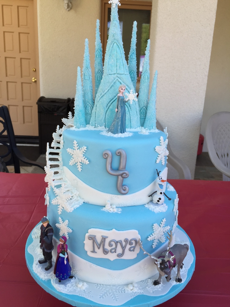 Frozen Themed Cake And Cupcakes Cakecentral Com