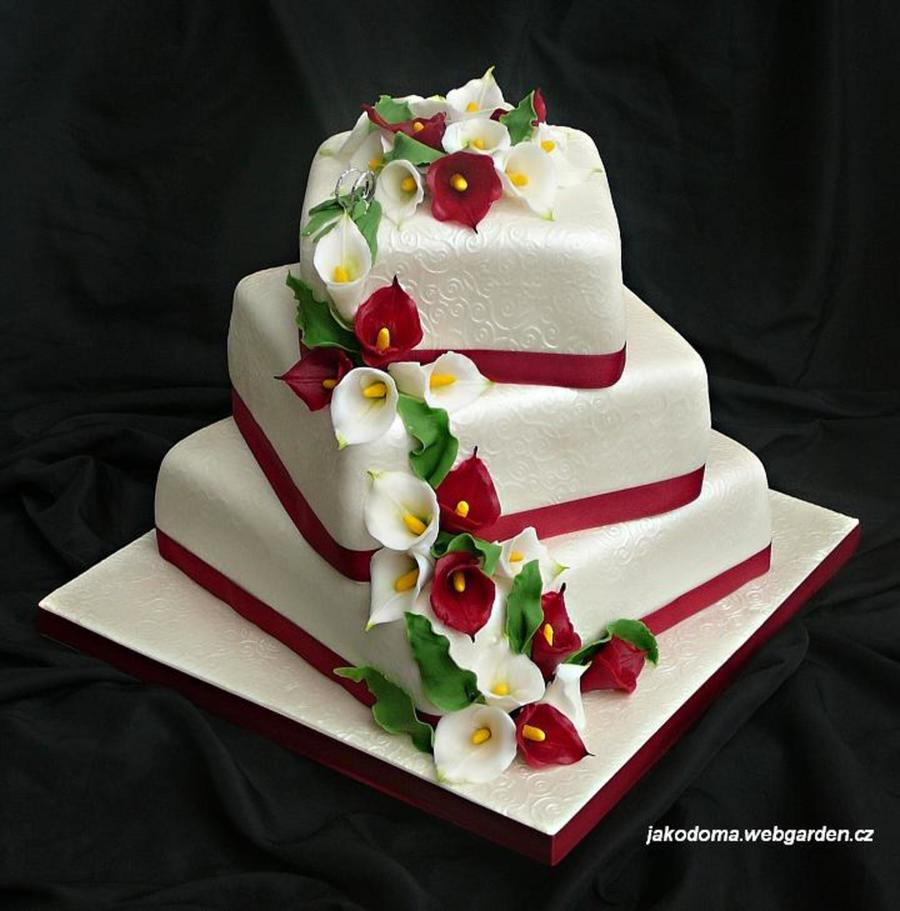 Calla Lily Wedding Cake   CakeCentral com Calla Lily Wedding Cake on Cake Central