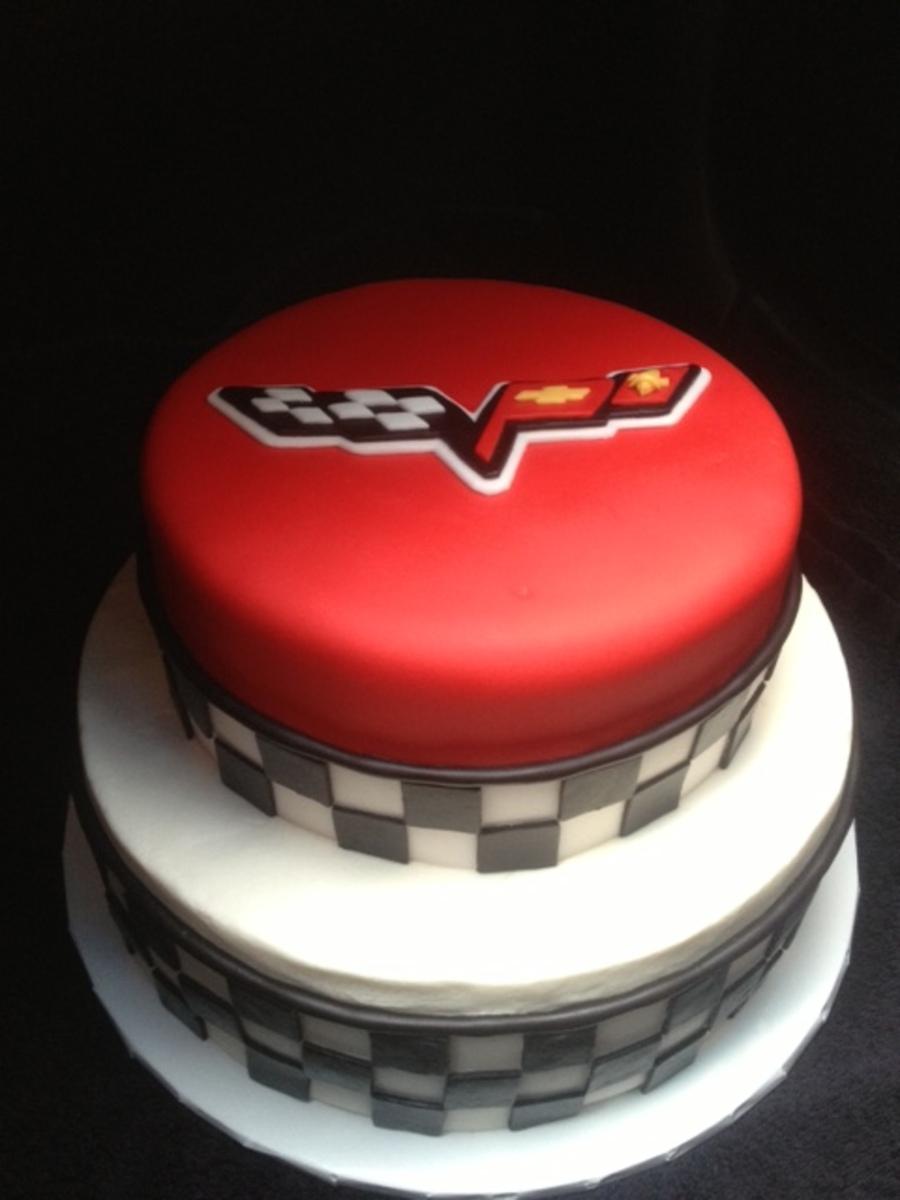 Corvette Themed Birthday Cake Cakecentral Com
