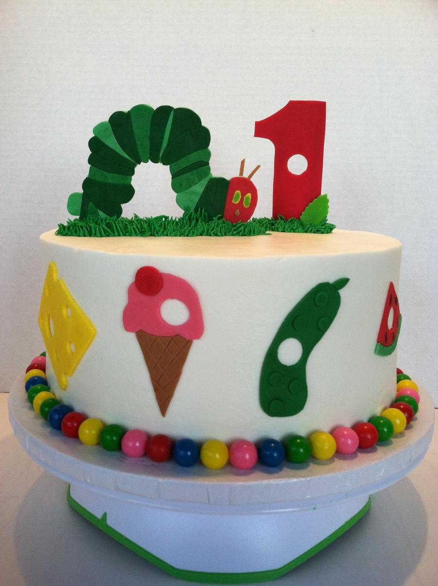 Very Hungry Caterpillar Cake Cakecentral Com