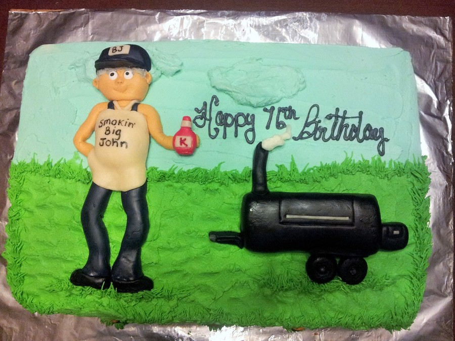Smoker Bbq Cake Bc With Mmf Smoker And Man Cakecentral Com