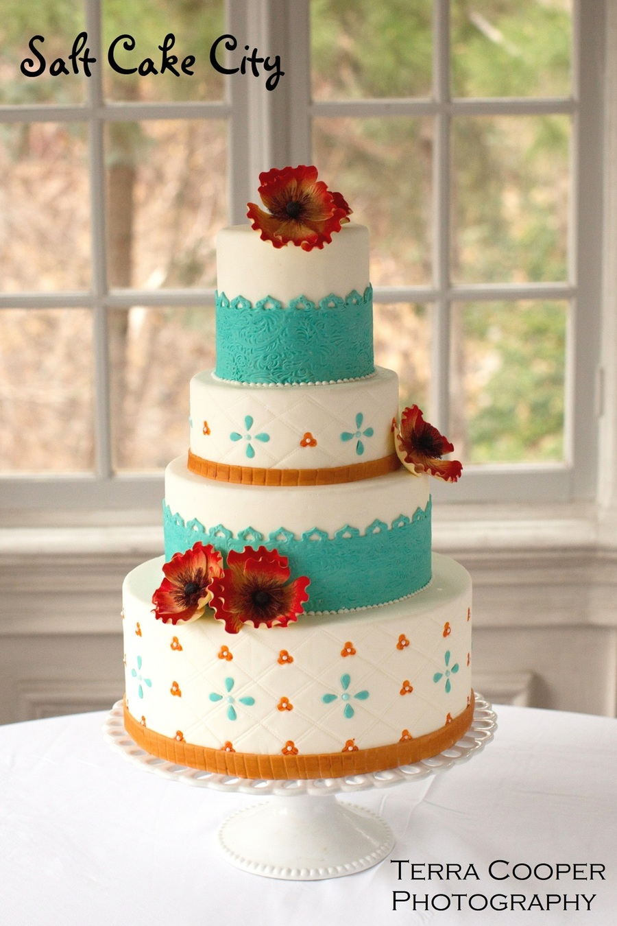 Quilted Pattern Wedding Cakes