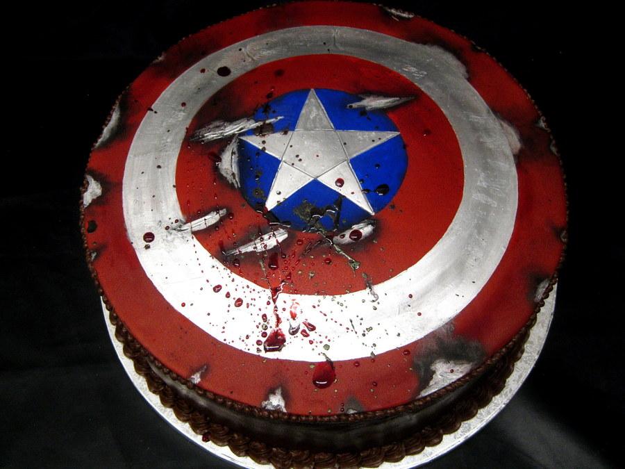 Captain America Shield Cake Cakecentral Com