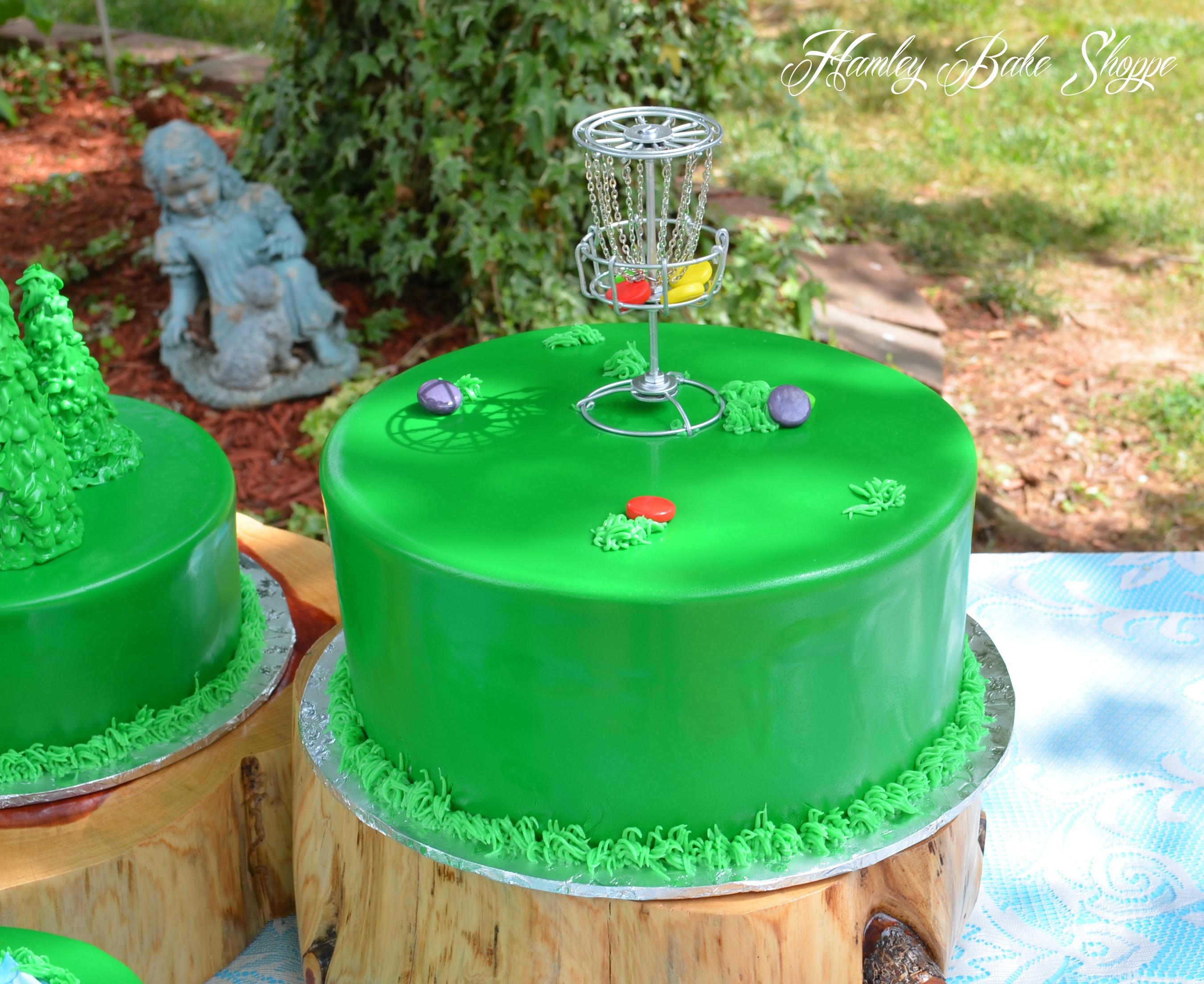 Disc Golf Cake Or Frisbee Golf Groom S Cake