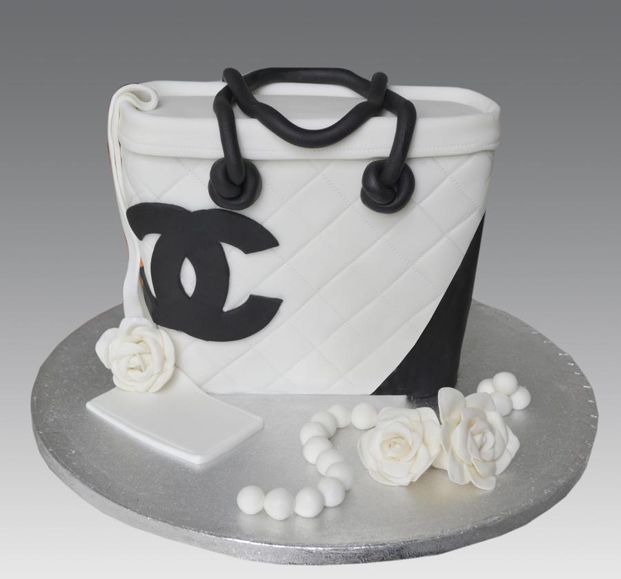 White Chanel Bag Cake Cakecentral Com