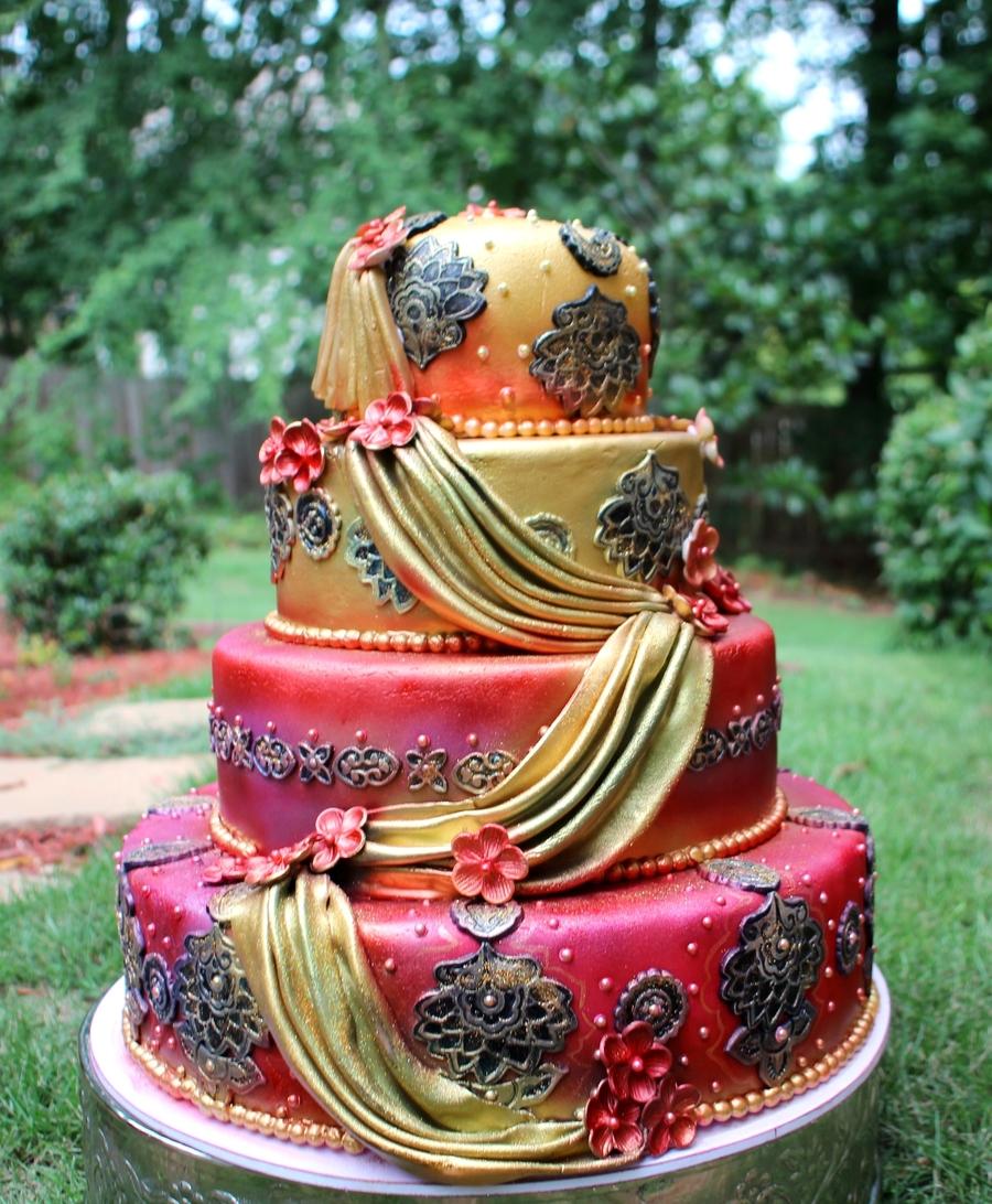 Indian Design Wedding Cake Cakecentral Com