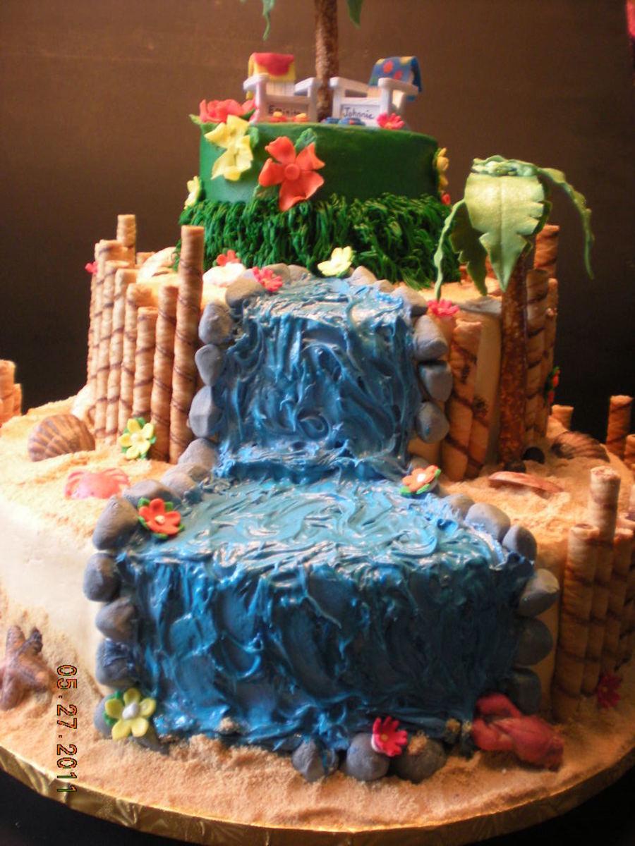 Luau Wedding Cake Cakecentral Com