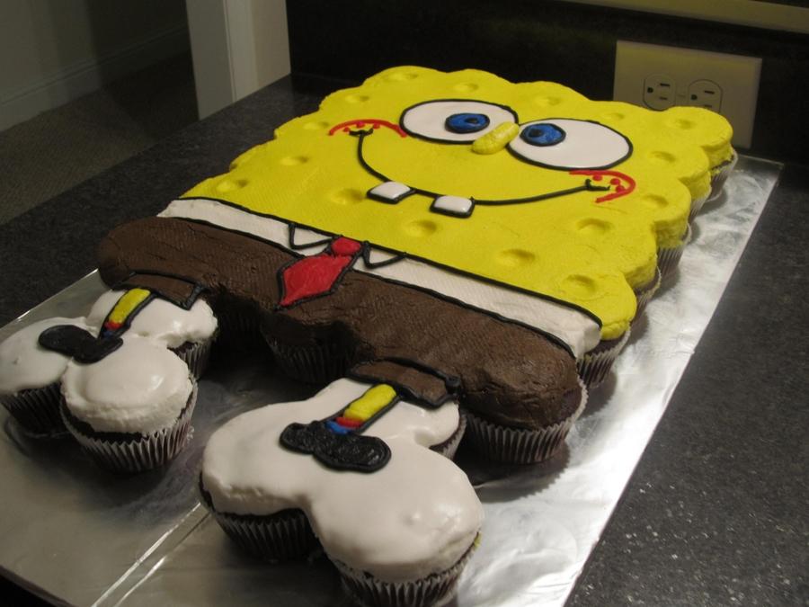 Spongebob Cupcake Cake Cakecentral Com