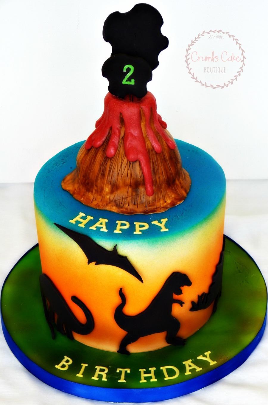 Volcano Dinosaur Cake