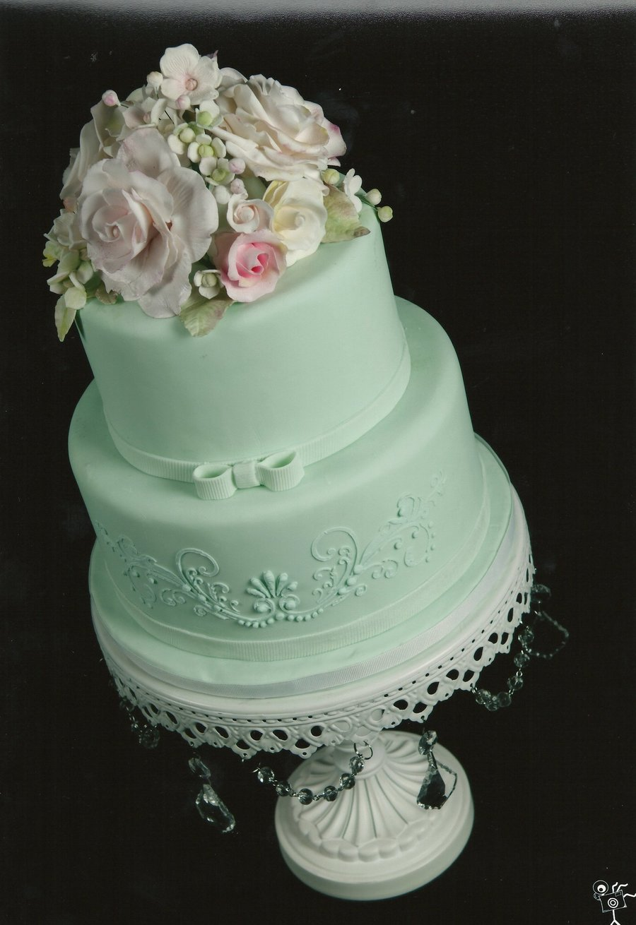 Seafoam Green Cake For Mother S Day Cakecentral Com
