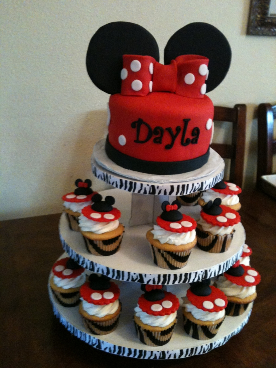 Minnie Mouse Cupcake Tower Cakecentral Com