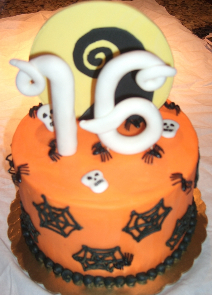 Halloween Themed Sweet 16 Small Cake Cakecentral Com