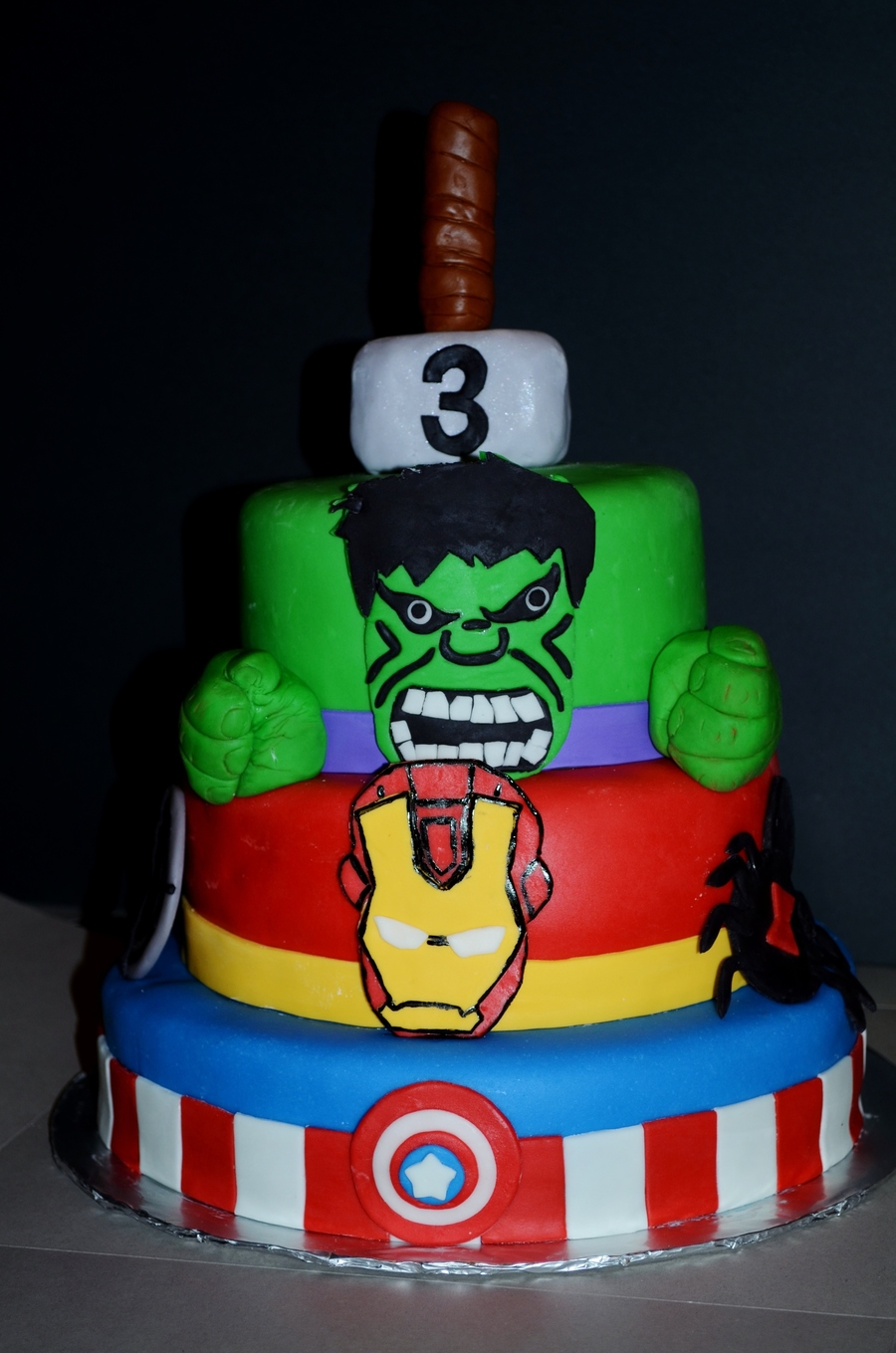 Avengers Birthday Cake Covered In Mmf Faces Inspired By