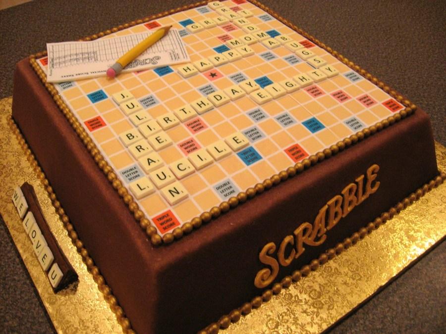 Scrabble Cake Cakecentral Com