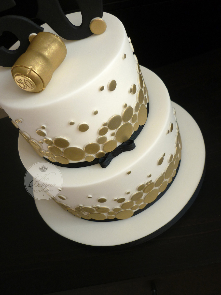 Black And Gold 50th Birthday Cake Him