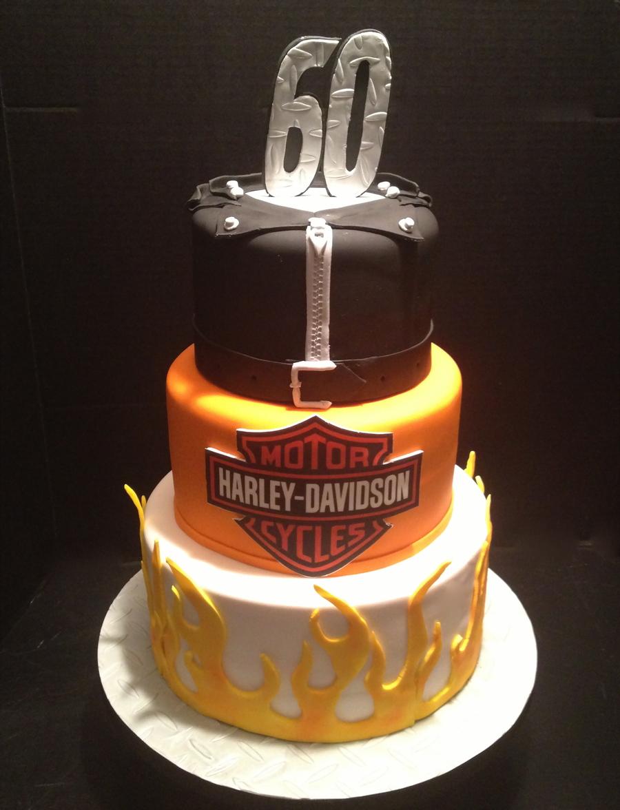Harley Davidson Birthday Cake All Fondant Harley Logo Is