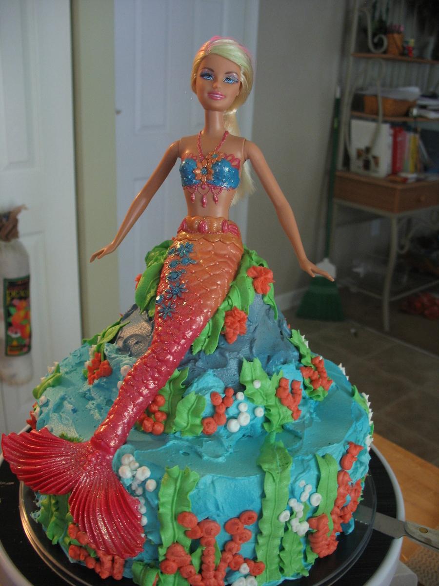 Barbie Mermaid Cake Cakecentral Com
