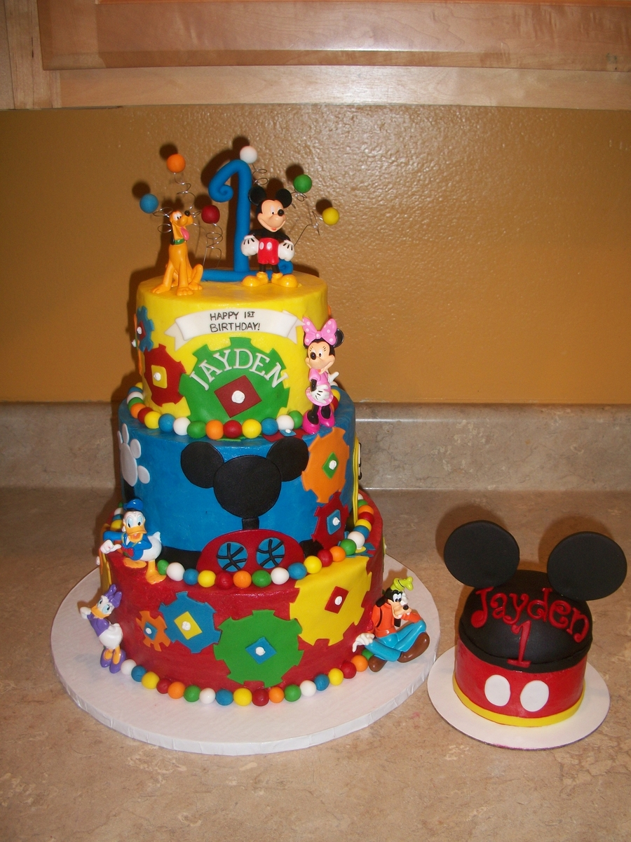 Mickey Mouse Clubhouse Gear Cake Cakecentral Com