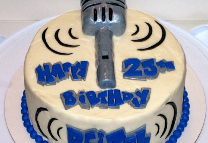 Retro Microphone Birthday Cake Cakecentralcom