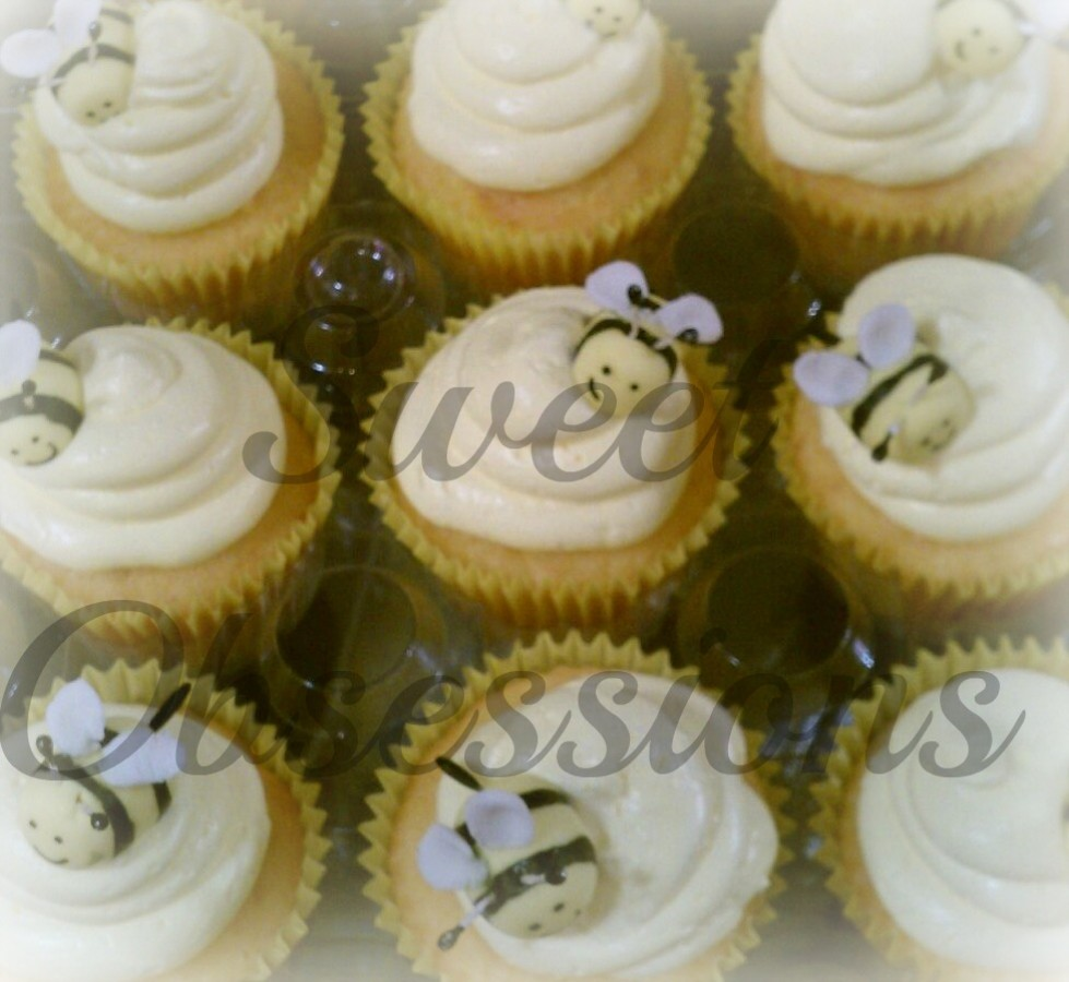 Cupcakes Decorated Nuts And Chocolate Drizzles