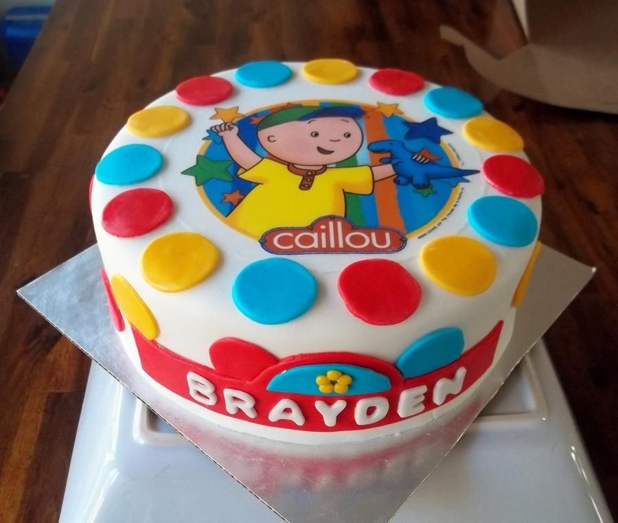 Caillou Birthday Cake Cakecentral Com