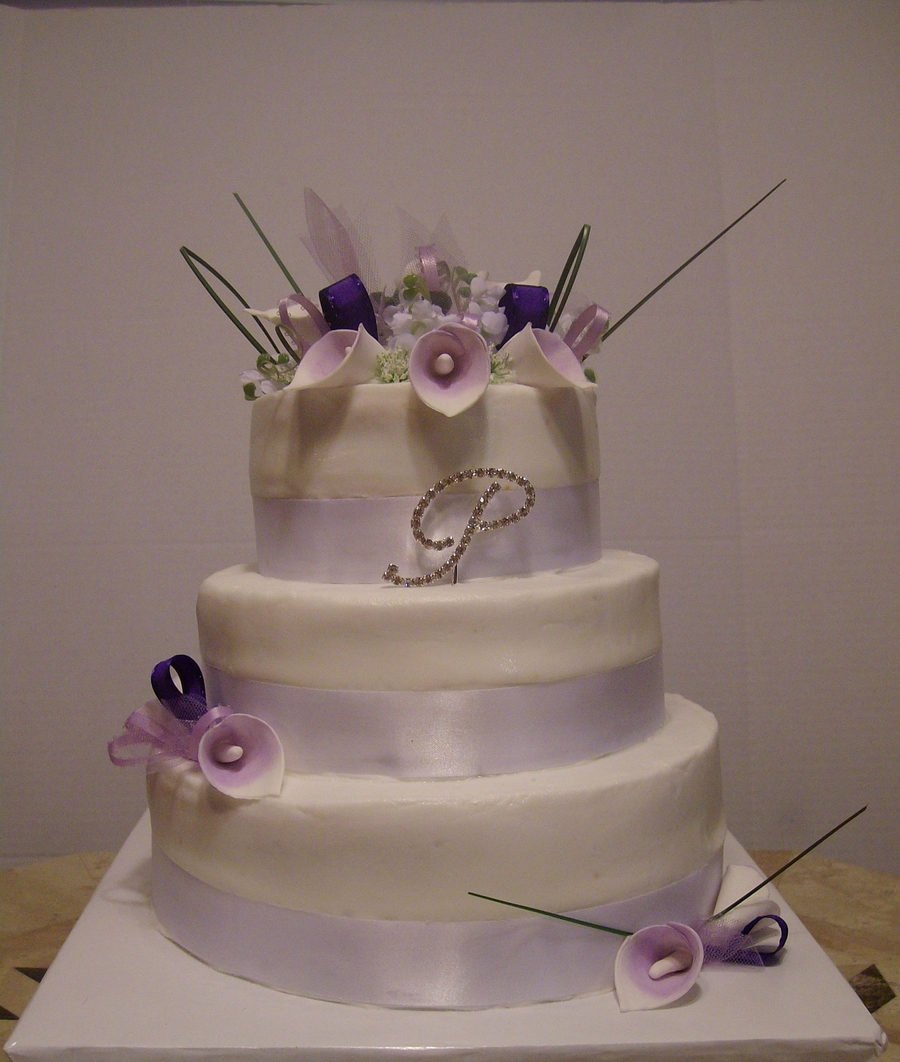Purple Calla Lily Wedding Cake   CakeCentral com Purple Calla Lily Wedding Cake on Cake Central