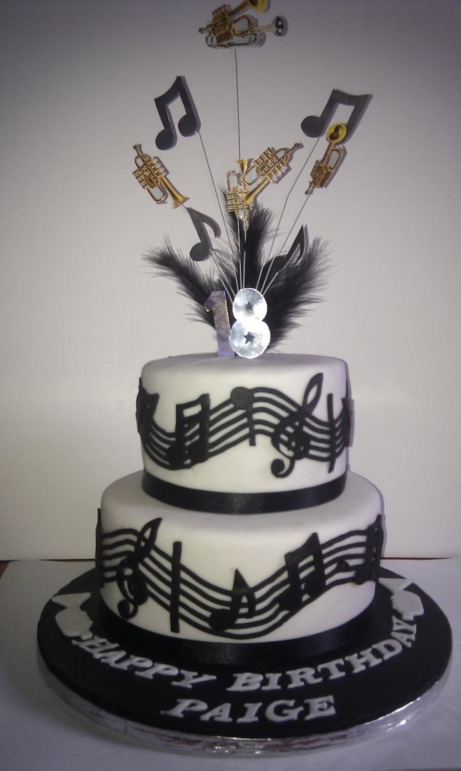 Music Trumpet Theme Cake Cakecentral Com