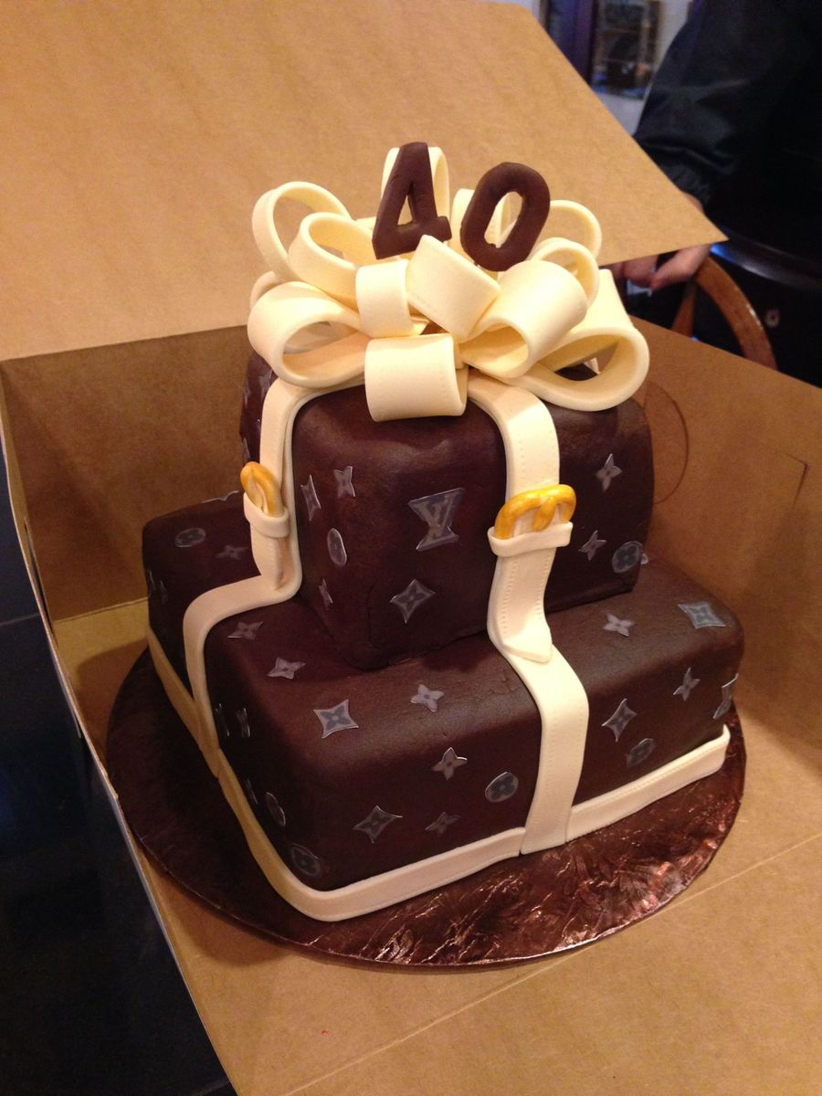 Louis Vuitton Happy Birthday Jean Cake