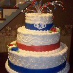 Red White And Blue Wedding Cakecentral Com