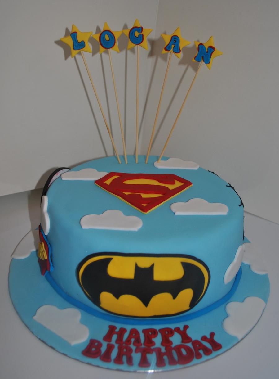 Super Hero Cake Superman Spiderman Captain America