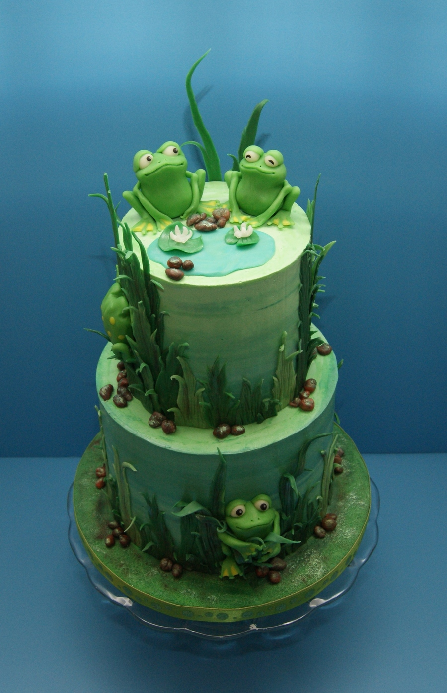 My Froggy Birthday Cake Cakecentral Com